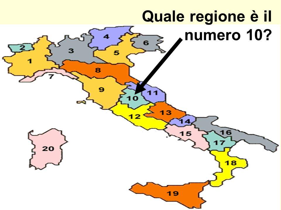 Quale regione è il numero 10?