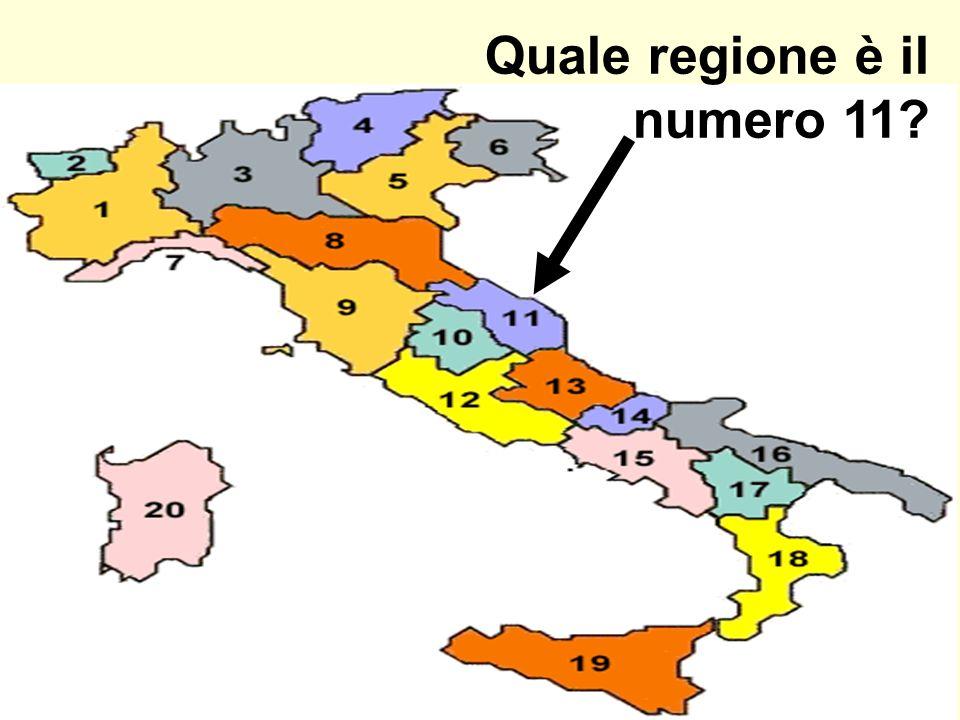 Quale regione è il numero 11?
