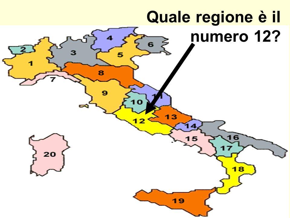 Quale regione è il numero 12?