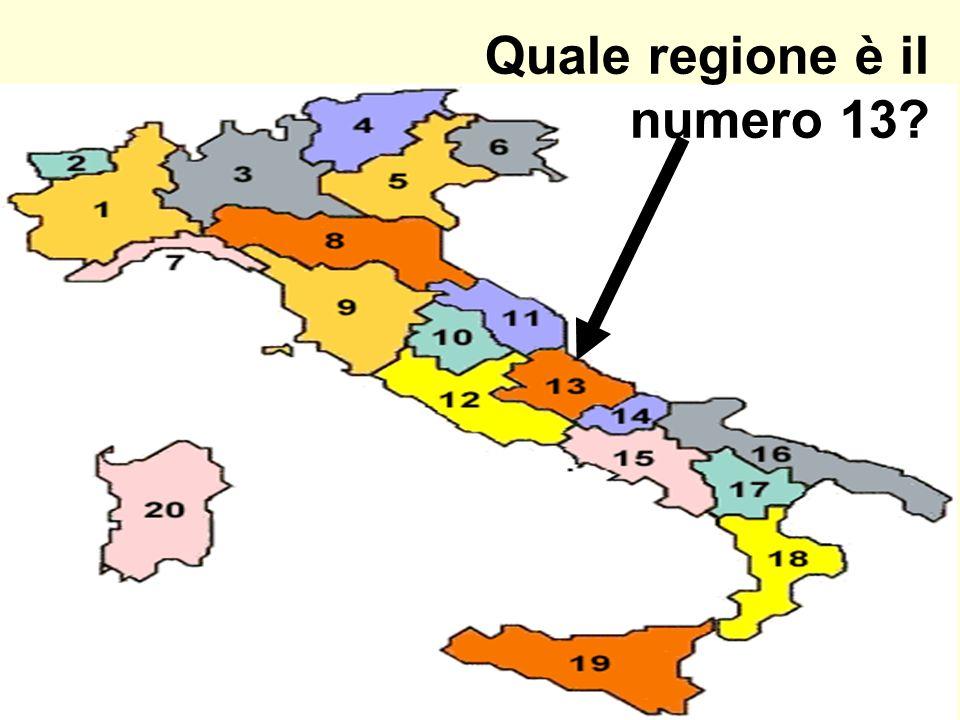 Quale regione è il numero 13?