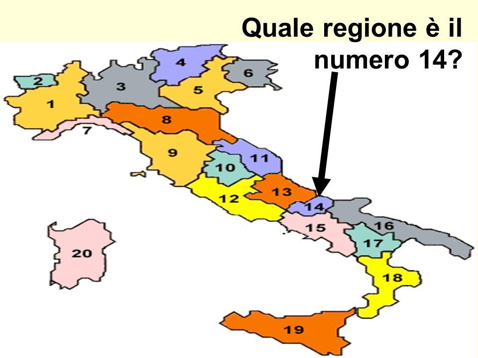 Quale regione è il numero 14?