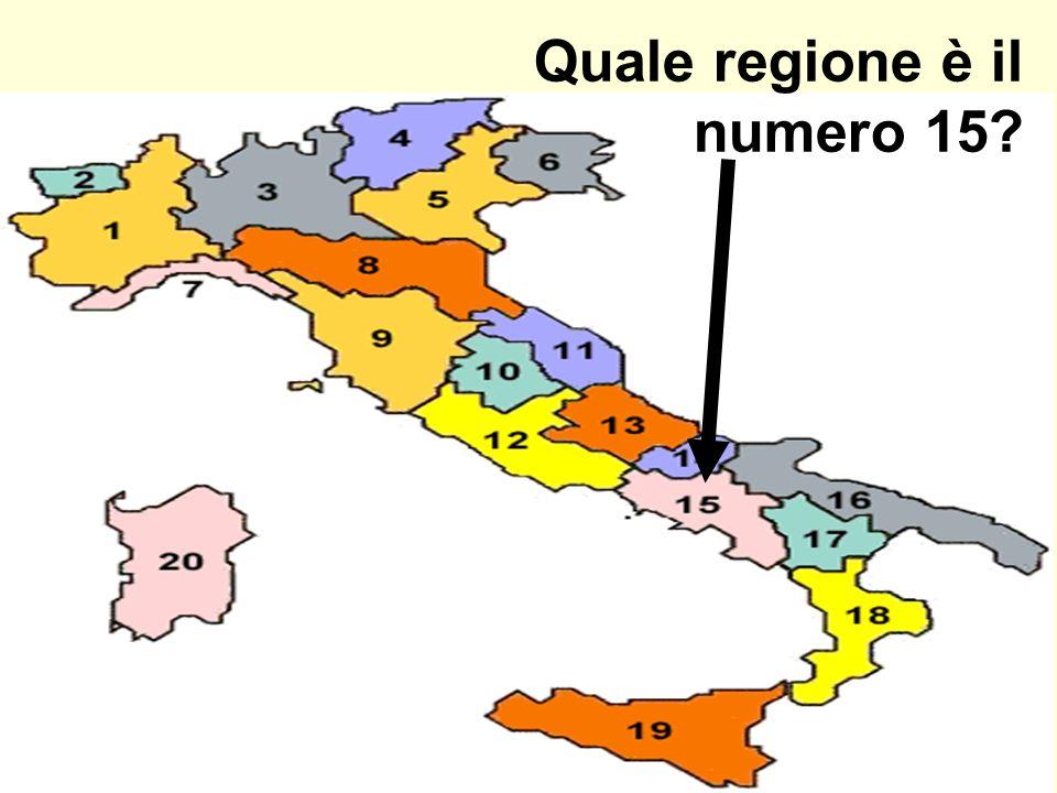 Quale regione è il numero 15?