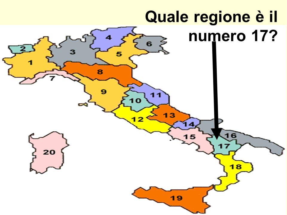 Quale regione è il numero 17?