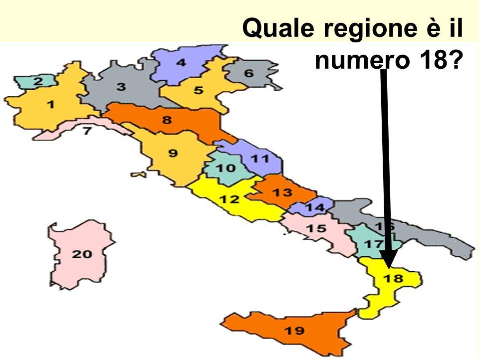 Quale regione è il numero 18?