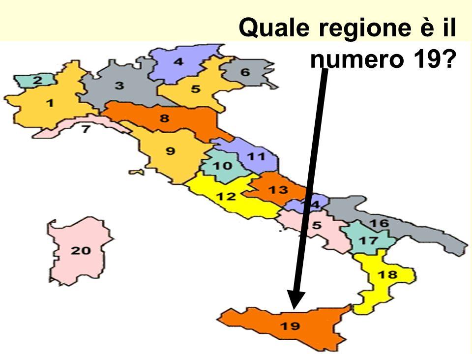 Quale regione è il numero 19?