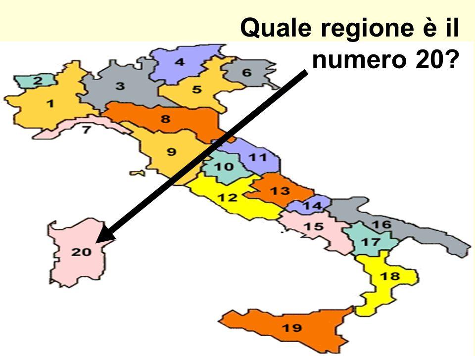 Quale regione è il numero 20?