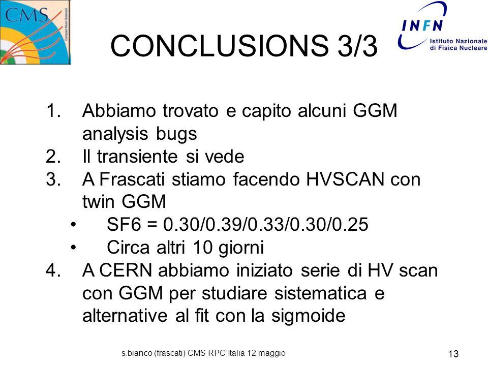 s.bianco (frascati) CMS RPC Italia 12 maggio 13 CONCLUSIONS 3/3 1.
