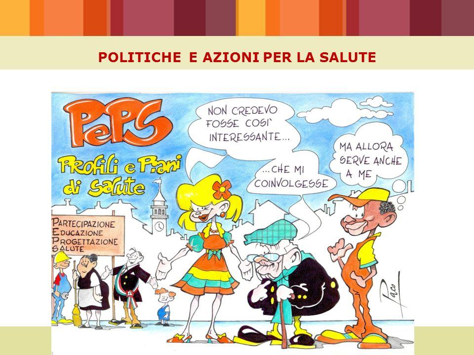 POLITICHE E AZIONI PER LA SALUTE