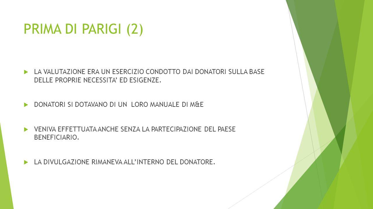 RIFORMA (L.125/8/2014)  Art.20,2: MAECI responsabilità per valutazione dell'impatto degli interventi di Cooperazione gestiti dall'Agenzia…….