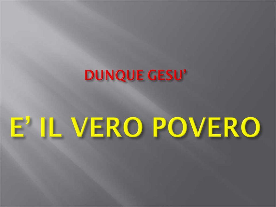 Beati i poveri in spirito.