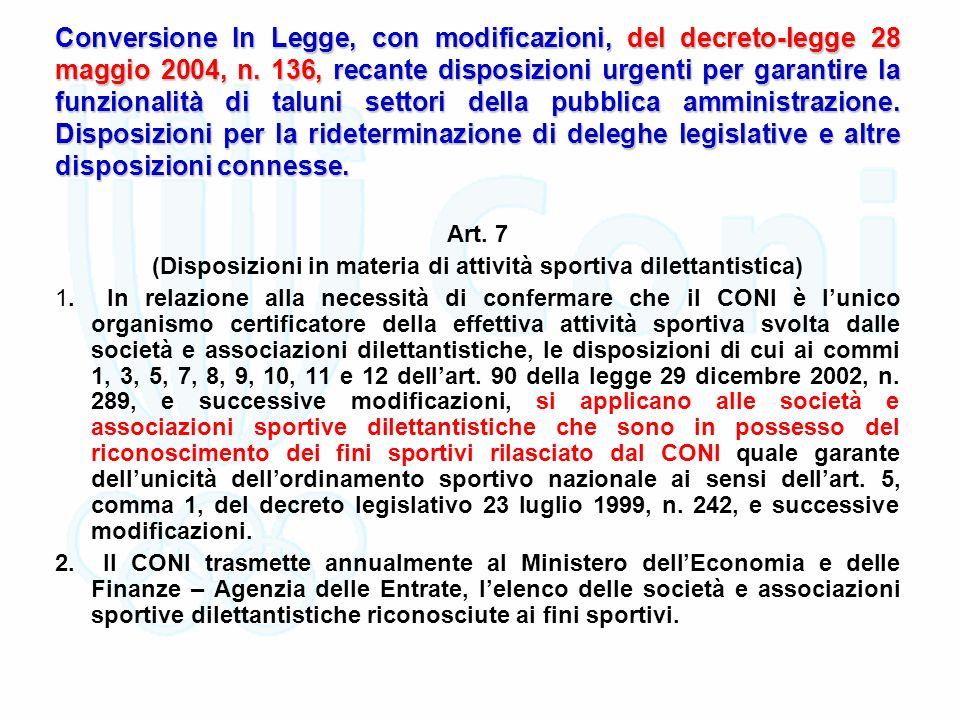 Conversione In Legge, con modificazioni, del decreto-legge 28 maggio 2004, n.