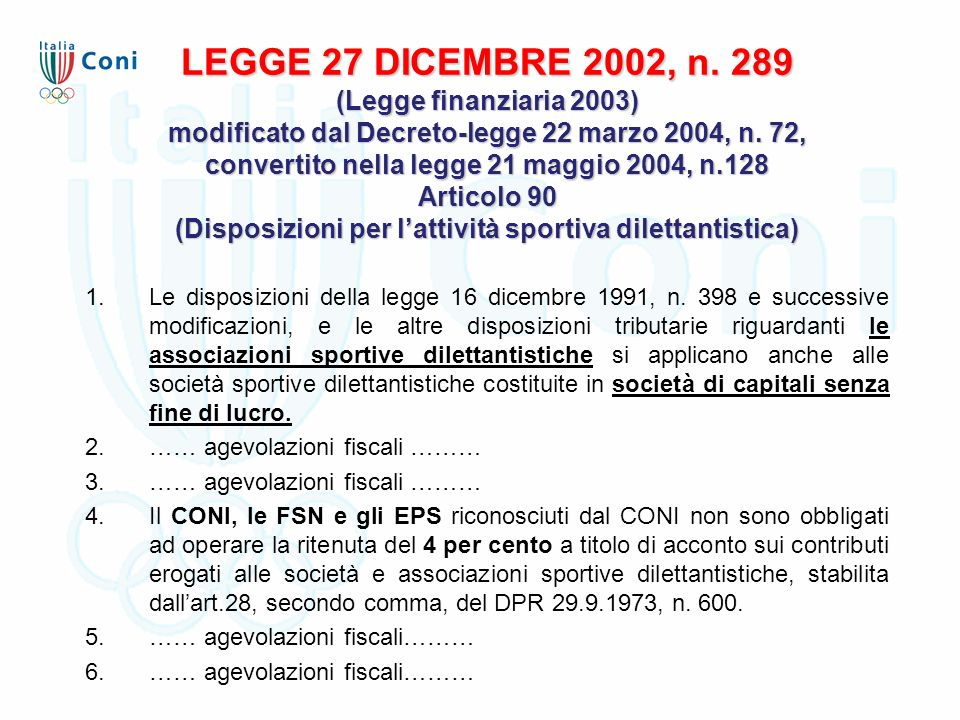 LEGGE 27 DICEMBRE 2002, n.