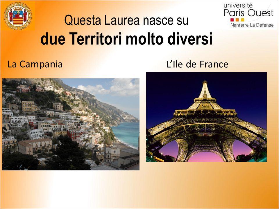 Questa Laurea nasce su due Territori molto diversi La Campania L'Ile de France