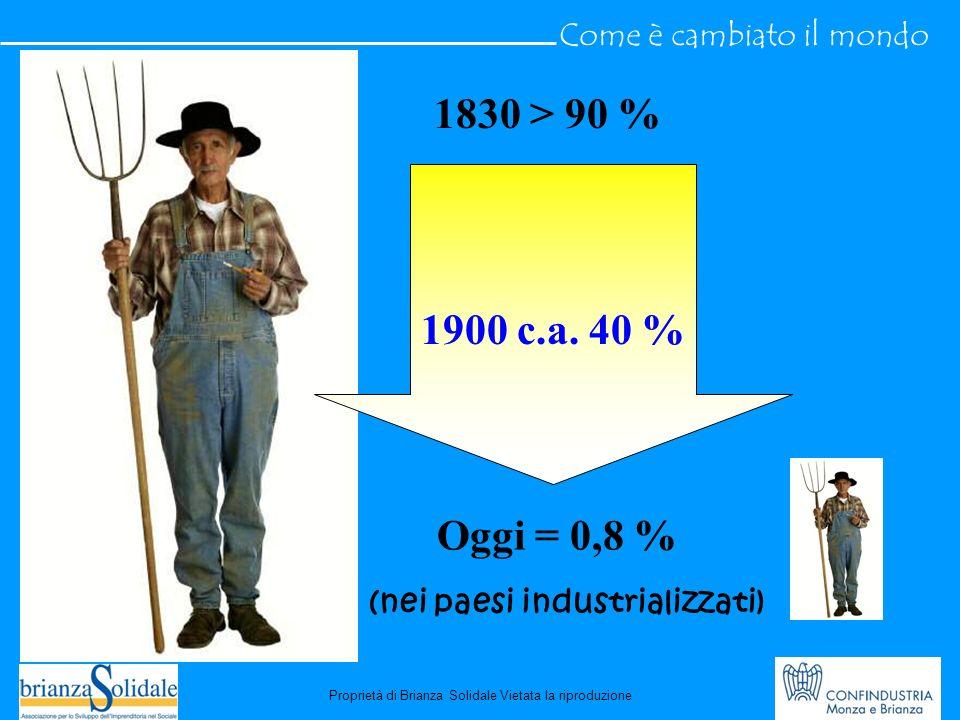 1830 > 90 % 1900 c.a.