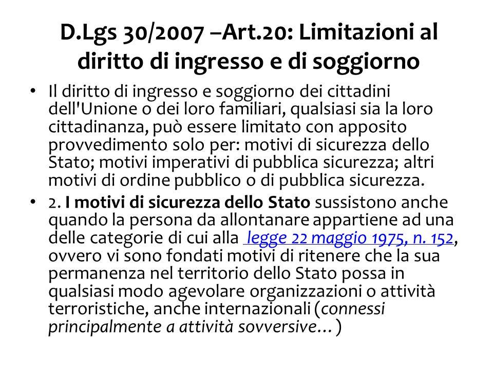 D.Lgs 30/2007 – Art.