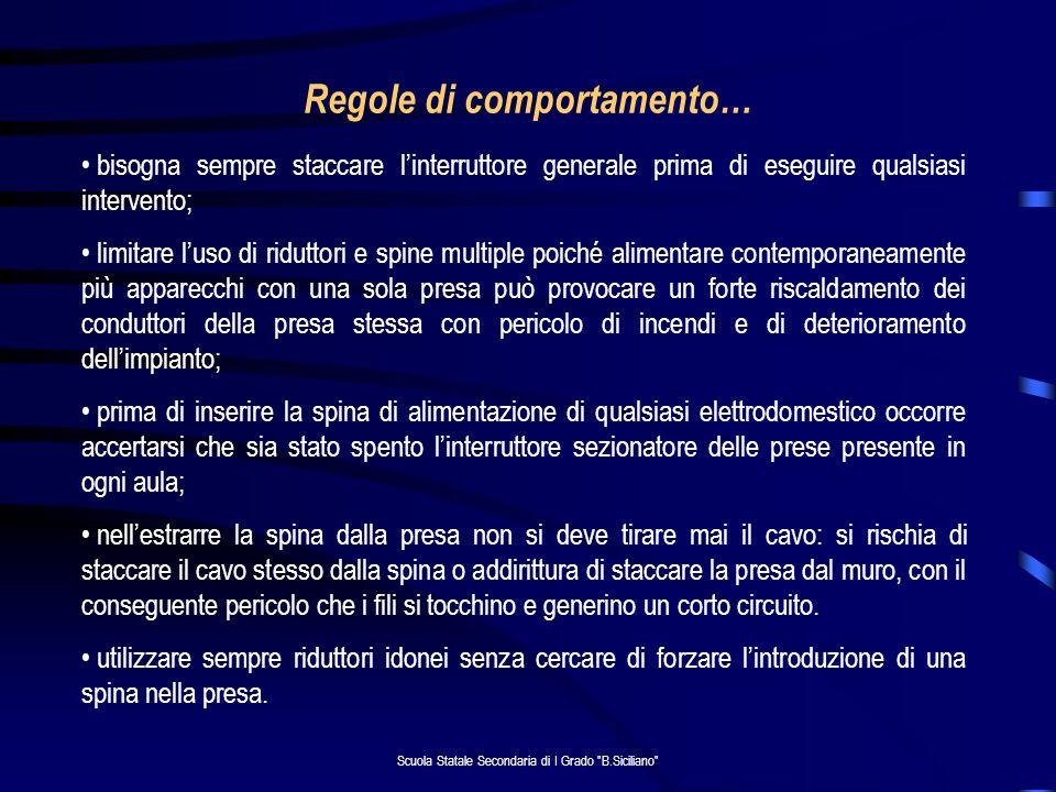 Scuola Statale Secondaria di I Grado B.Siciliano … cosa fare.