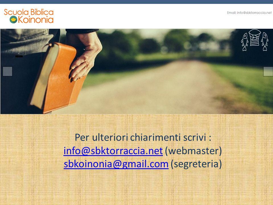 Per ulteriori chiarimenti scrivi : info@sbktorraccia.net (webmaster) sbkoinonia@gmail.com (segreteria) info@sbktorraccia.net sbkoinonia@gmail.com