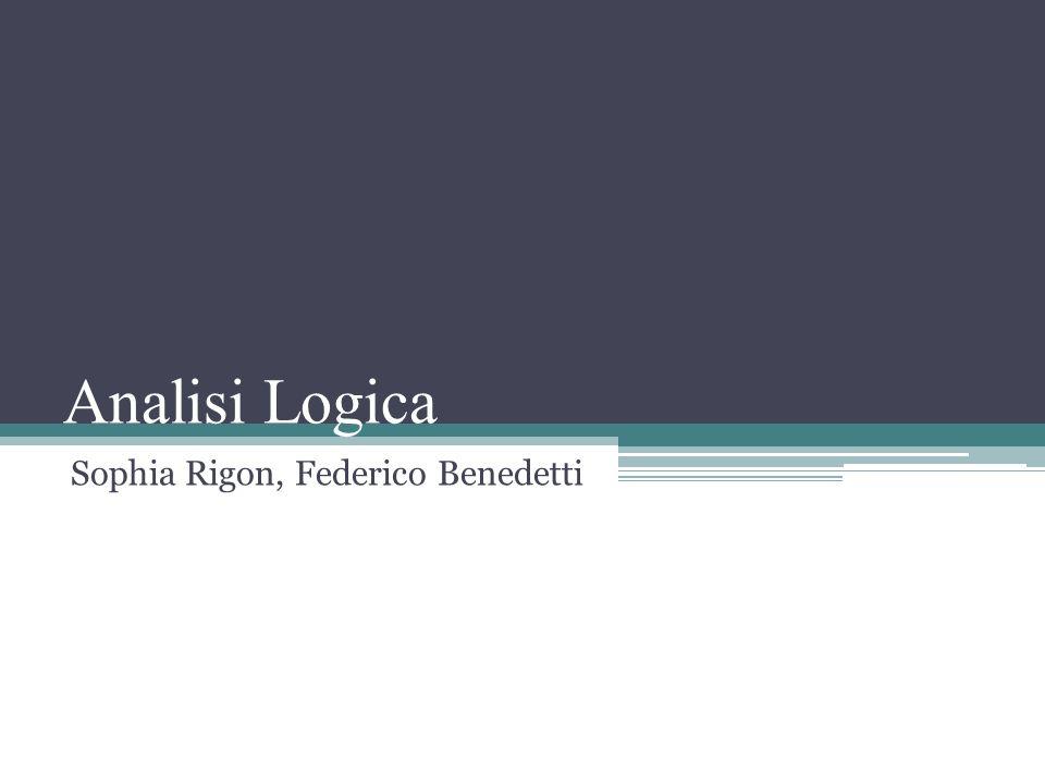 Analisi Logica Sophia Rigon, Federico Benedetti