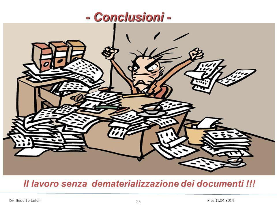 Il lavoro senza dematerializzazione dei documenti !!.