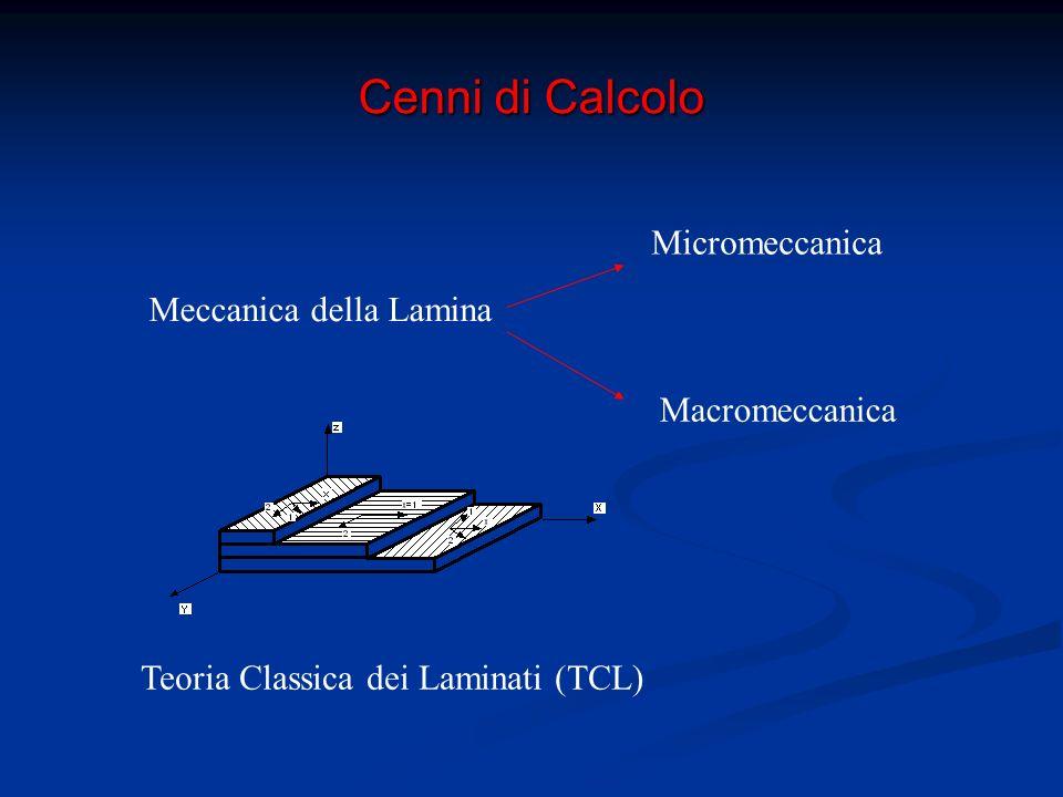 Cenni di Calcolo I materiali compositi sono anisotropi ed eterogenei Prop.