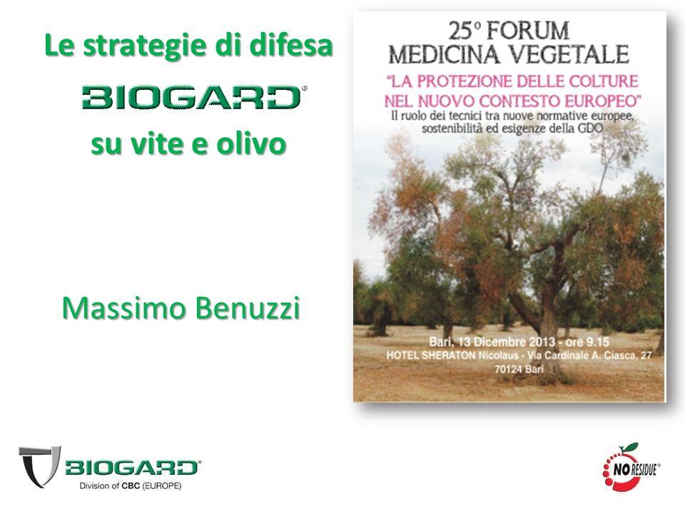 Massimo Benuzzi Le strategie di difesa su vite e olivo