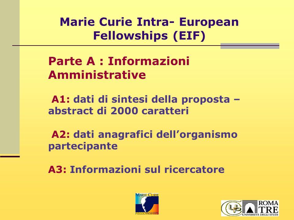 Marie Curie Intra- European Fellowships (EIF) Parte B sezione 1: Descrizione della proposta B1.1 Qualità scientifica del progetto (max 4 pagg.) su ogni pagina apporre Acronimo e numerazione come segue: Section B1 - Page X of Y Qualità S/T del progetto, inclusi aspetti interdisciplinari Metodologia rispetto agli obiettivi del progetto Originalità del progetto e avanzamenti rispetto allo stato dell'arte nel settore di ricerca Opportunità e rilevanza del progetto