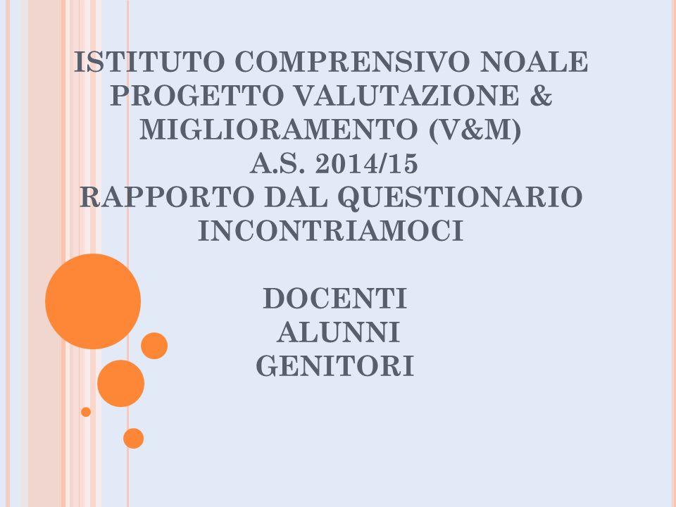 ISTITUTO COMPRENSIVO NOALE PROGETTO VALUTAZIONE & MIGLIORAMENTO (V&M) A.S.