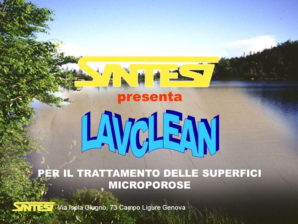 presenta PER IL TRATTAMENTO DELLE SUPERFICI MICROPOROSE Via Isola Giugno, 73 Campo Ligure Genova