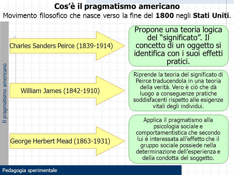 John Dewey: lo strumentalismo Lo strumentalismo deweyano John Dewey (1859-1952) riprende il pragmatismo di James, Peirce e Mead e lo rielabora in ciò che egli stesso denominerà STRUMENTALISMO.
