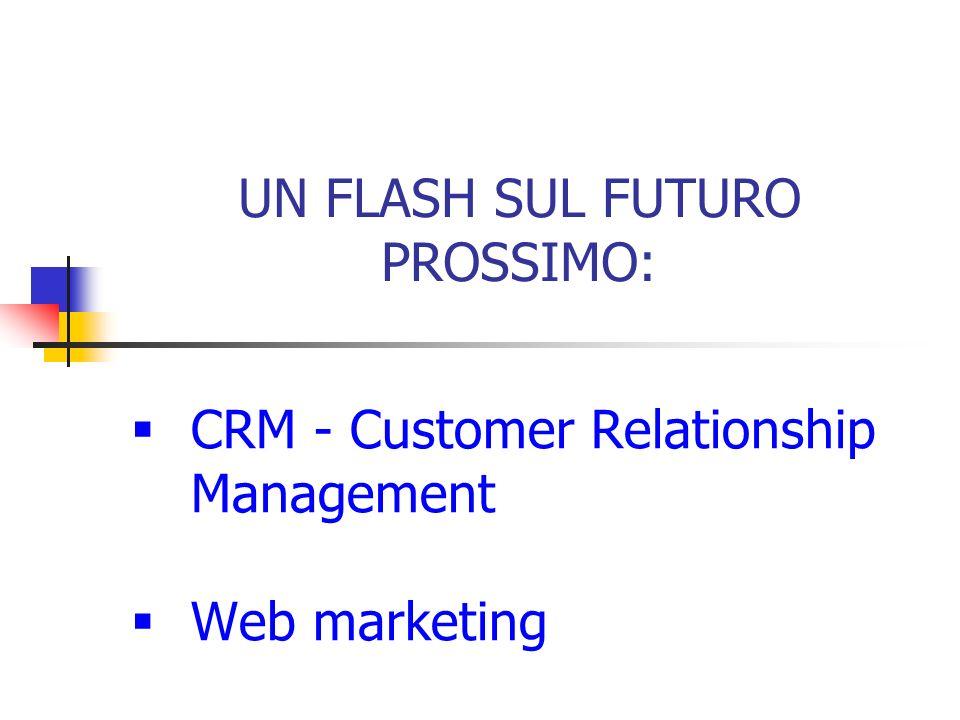 UN FLASH SUL FUTURO PROSSIMO:  CRM - Customer Relationship Management  Web marketing