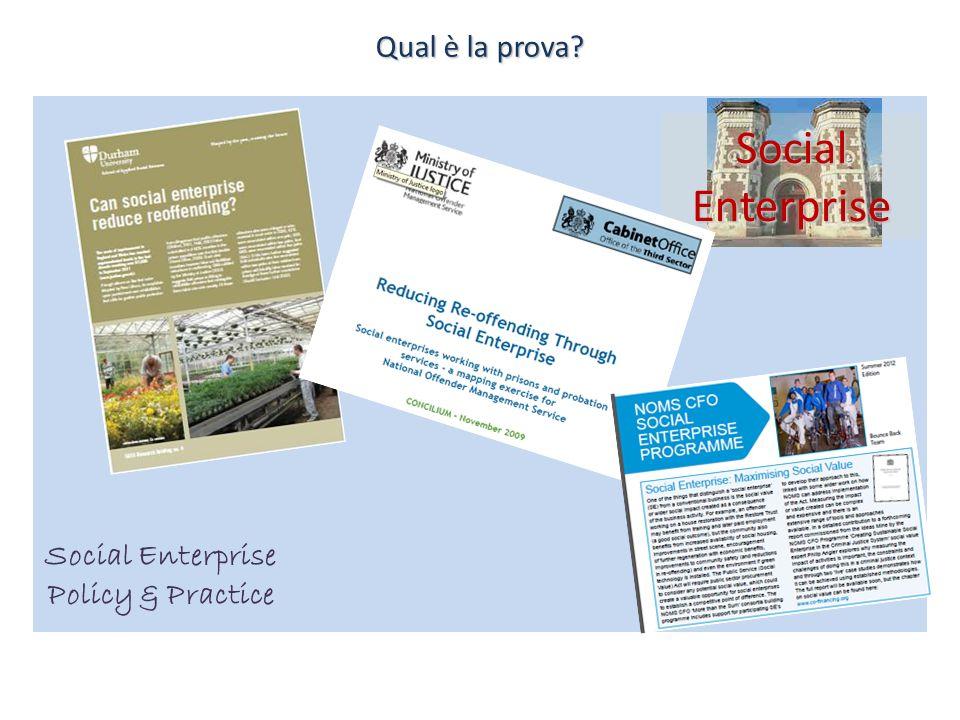 Social Enterprise Policy & Practice Social Enterprise Qual è la prova?