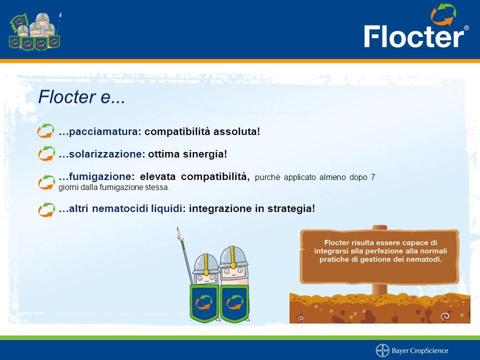 Flocter e... …pacciamatura: compatibilità assoluta! …solarizzazione: ottima sinergia! …fumigazione: elevata compatibilità, purchè applicato almeno dop