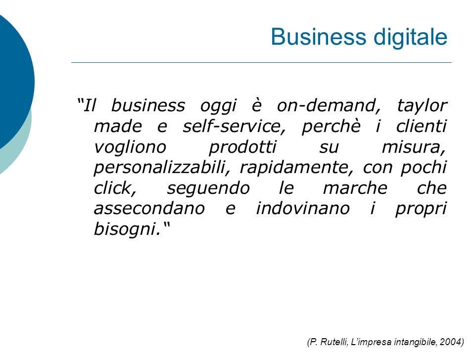 """Business digitale """"Il business oggi è on-demand, taylor made e self-service, perchè i clienti vogliono prodotti su misura, personalizzabili, rapidamen"""