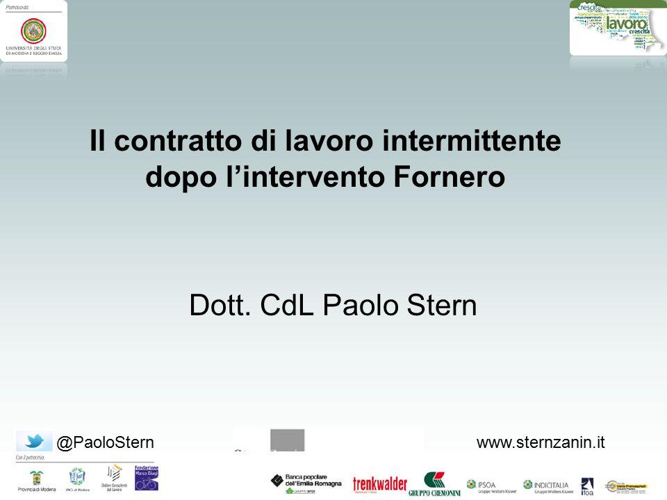 @PaoloSternwww.sternzanin.it Dott.