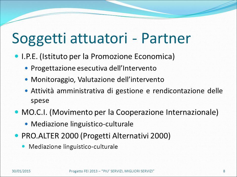 Soggetti attuatori - Partner I.P.E.