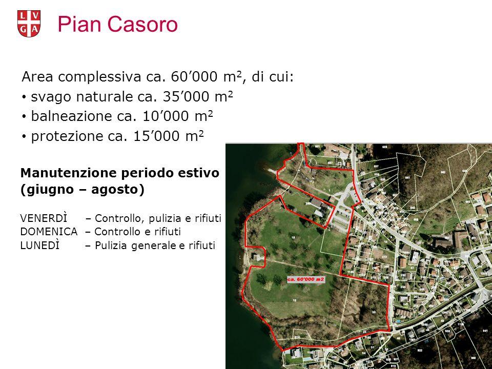 Area complessiva ca. 60'000 m 2, di cui: svago naturale ca.