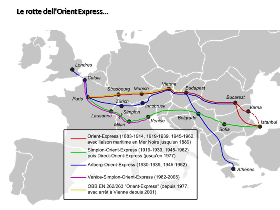 Le rotte dell'Orient Express…