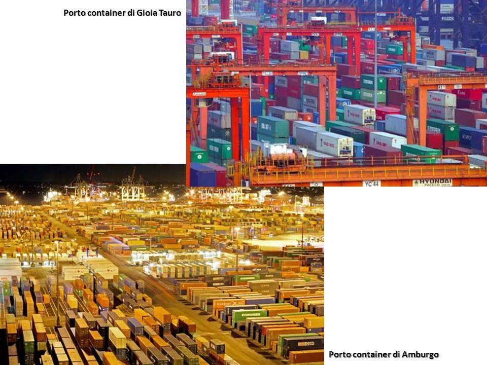 Porto container di Amburgo Porto container di Gioia Tauro