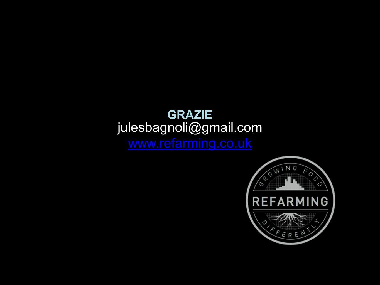 GRAZIE julesbagnoli@gmail.com www.refarming.co.uk