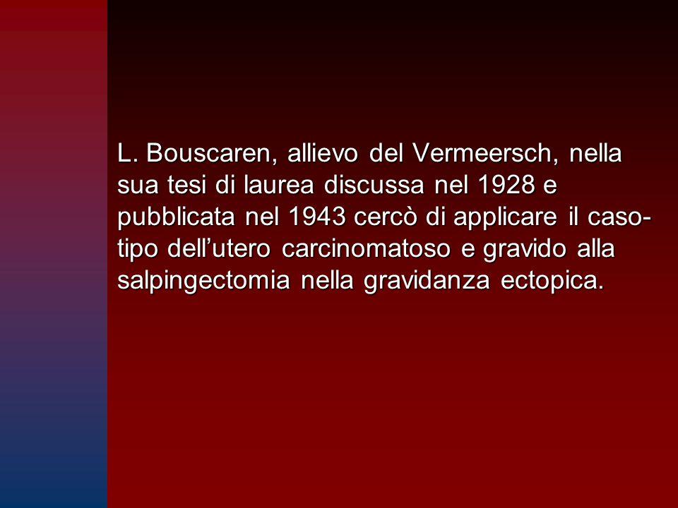 L. Bouscaren, allievo del Vermeersch, nella sua tesi di laurea discussa nel 1928 e pubblicata nel 1943 cercò di applicare il caso- tipo dell'utero car