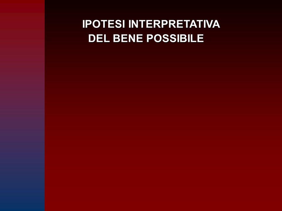IPOTESI INTERPRETATIVA DEL BENE POSSIBILE