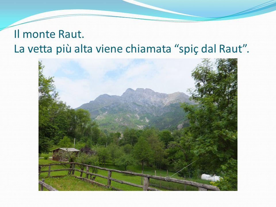 """Il monte Raut. La vetta più alta viene chiamata """"spiç dal Raut""""."""