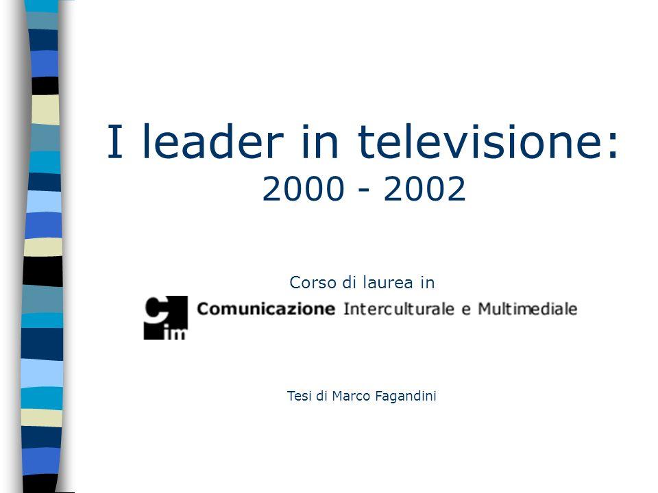 Corso di laurea in Tesi di Marco Fagandini I leader in televisione: 2000 - 2002
