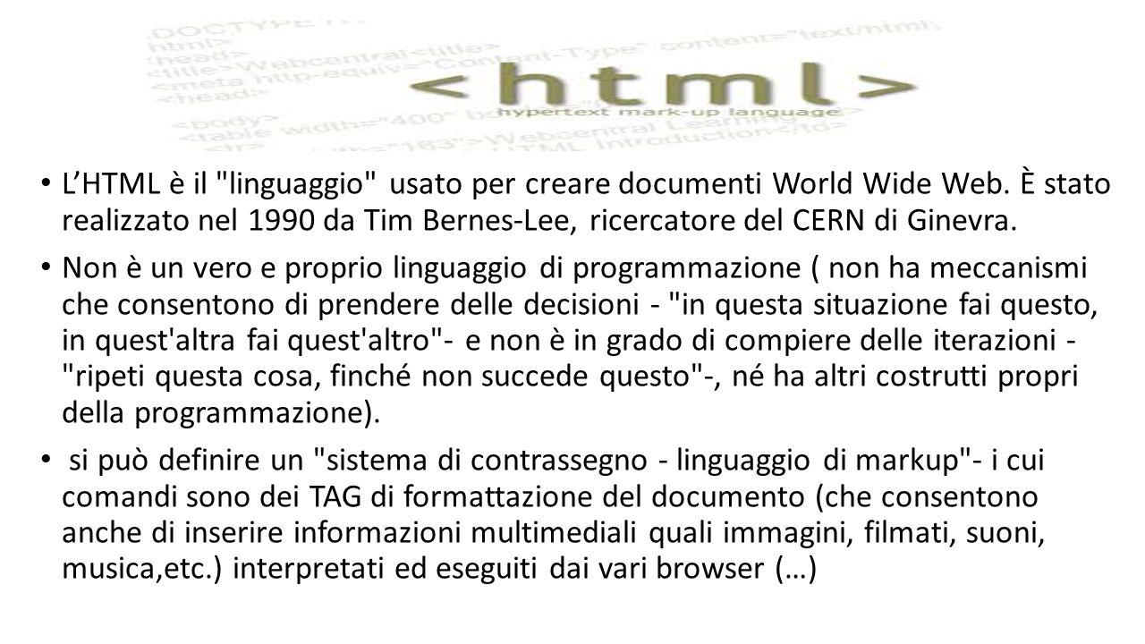 L'HTML è il