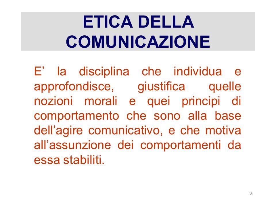13 SISTEMA COMUNICATIVO Un sistema di comunicazione è più efficiente se trasparente e corretto.