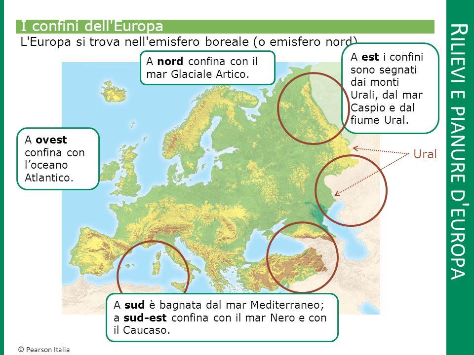© Pearson Italia R ILIEVI E PIANURE D EUROPA Penisole d Europa Il profilo costiero dell'Europa è ricco di penisole.