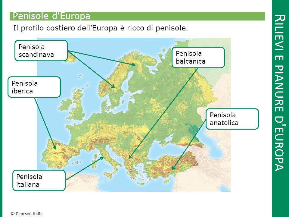 © Pearson Italia R ILIEVI E PIANURE D EUROPA Isole d Europa Fanno parte dell'Europa diverse isole più o meno importanti.