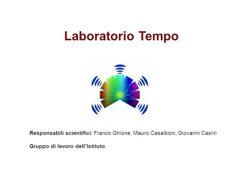 Responsabili scientifici: Franco Ghione, Mauro Casalboni, Giovanni Casini Gruppo di lavoro dell'Istituto.
