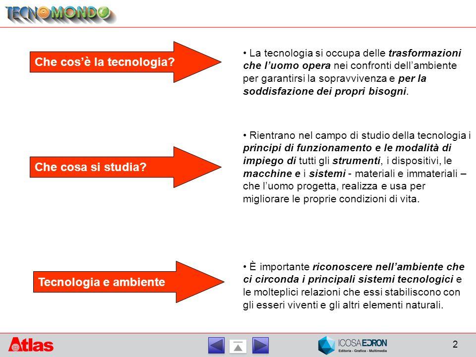 2 Che cos'è la tecnologia.