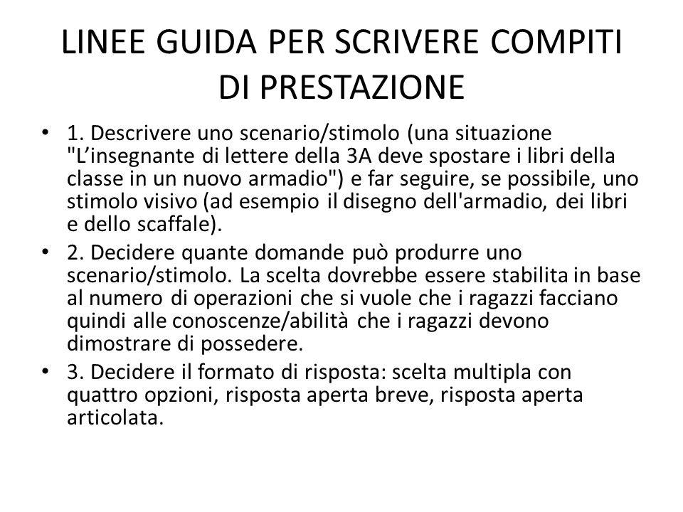 LINEE GUIDA PER SCRIVERE COMPITI DI PRESTAZIONE 1.
